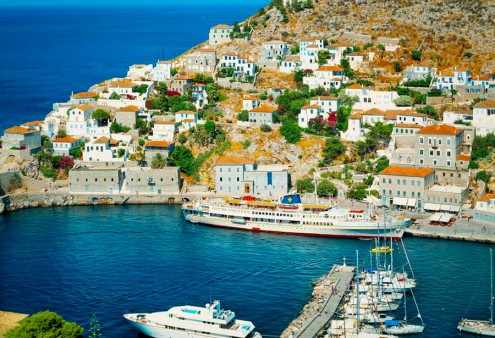 01A5J409; port, Hydra island, Greece
